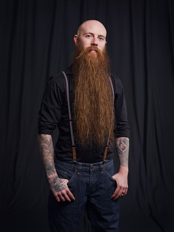 Beautiful long thick full red beard and huge mustache for Red beard tattoo