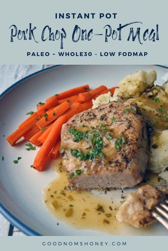 This Instant Pot Pork Chop One-Pot Meal recipe offers tender pork chops, melt-in-your-mouth carrots