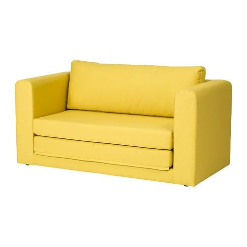Ikea Askeby 2 Seat Sofa Bed Grasbo Golden Yellow A Sofa Bed With