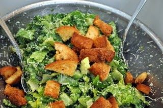 Homemade ceasar salad. YUM!