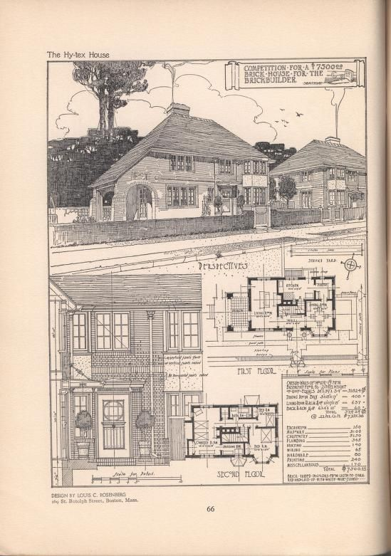 The hy-tex house of moderate cost | House plans | Pinterest ...
