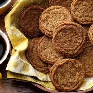 Old-Fashioned Gingersnaps.  These *might* be like my grandmothers, which she called molasses cookies.  They were very dense and chewy and I haven't seen a recipe like them before,  hope this one is!