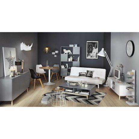 Mesa de comedor redonda de madera y metal Diam. 100 cm Circle | Maisons du Monde