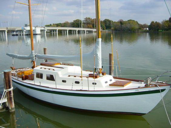 Herreshoff sailboat, classic design, signature style. MMc