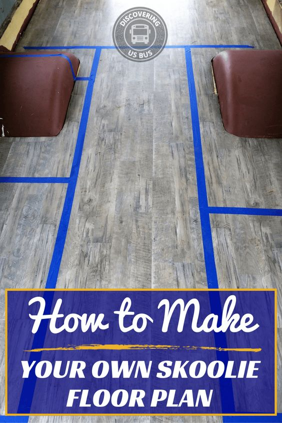 How to Make Your Own Skoolie Floor Plan