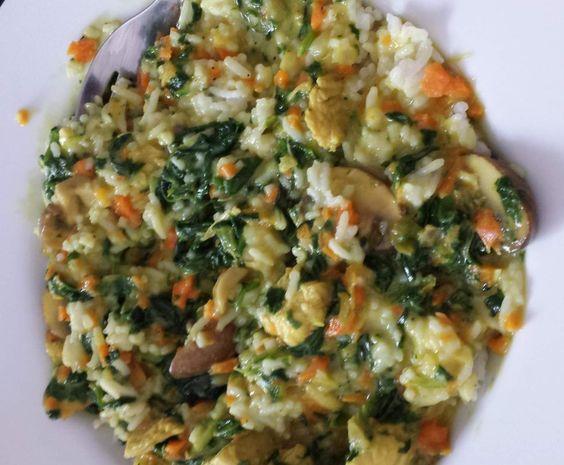 Rezept Hähnchenspinatcurry mit Basmatireis von anne2382 - Rezept der Kategorie Hauptgerichte mit Fleisch