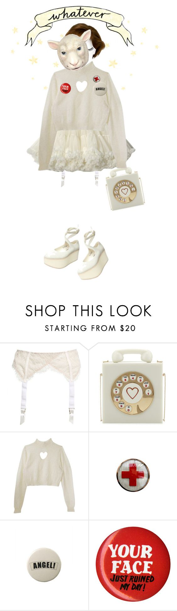 """""""1-800-SLEEPYHEAD"""" by filthyqueen ❤ liked on Polyvore featuring Charlotte Olympia, Rimini and cultpartykei"""