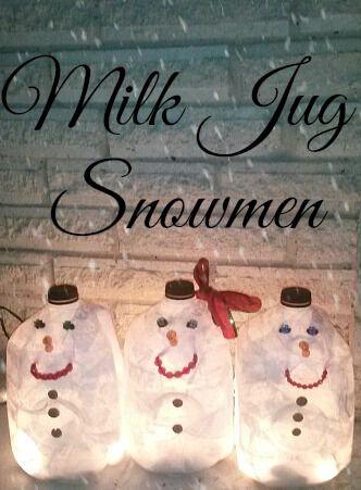 milk-jug-snowmen-easy-christmas-craft                              …