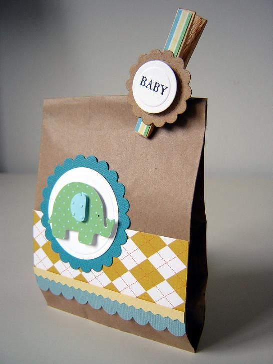 Fill with peanut M&M.  plain jane: baby shower favor