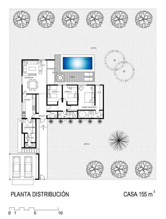 La forma moderna en la arquitectura casas de campo for Arquitectura moderna planos
