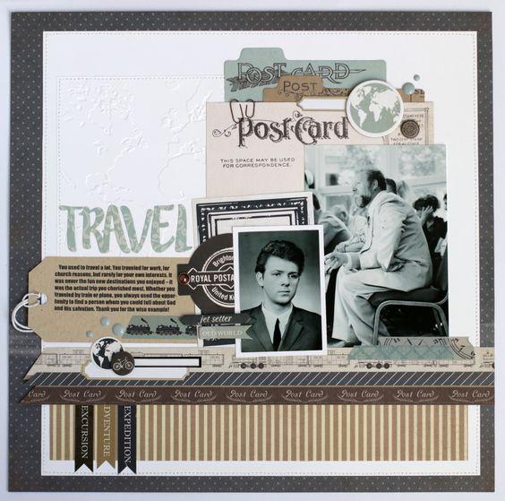 """""""Carta+Bella""""+Travel+Layout - Scrapbook.com"""