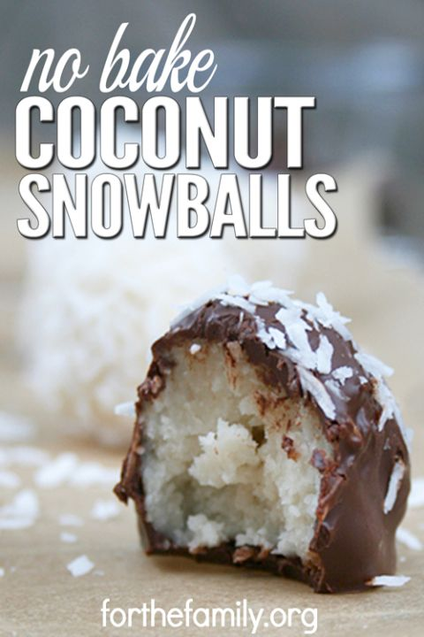 Coconut Snowballs are a simple, easy-to-make cookie recipe that doesn't involve any baking. These cookies only take 5 minutes to make, and the melted chocolate makes them taste just like candy. These are great for holidays, family gatherings, or any time you need a simple treat to calm your sweet tooth craving.: