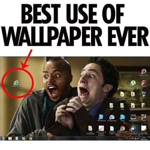 This is hysterical...and mean...poor Internet Explorer, I think I'm gonna start to use it out of guilt