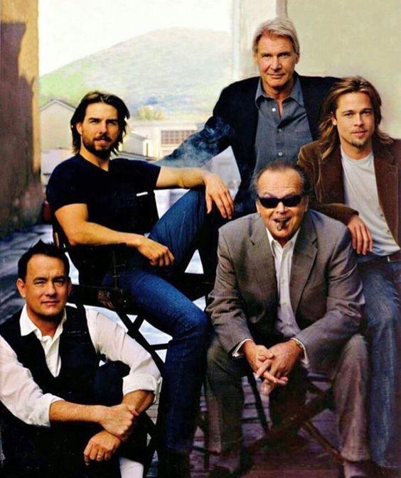 Tom Hanks Tom Cruise Harrison Ford Jack Nicholson Brad Pitt Fotos De Cine Actores Americanos Actriz De Cine