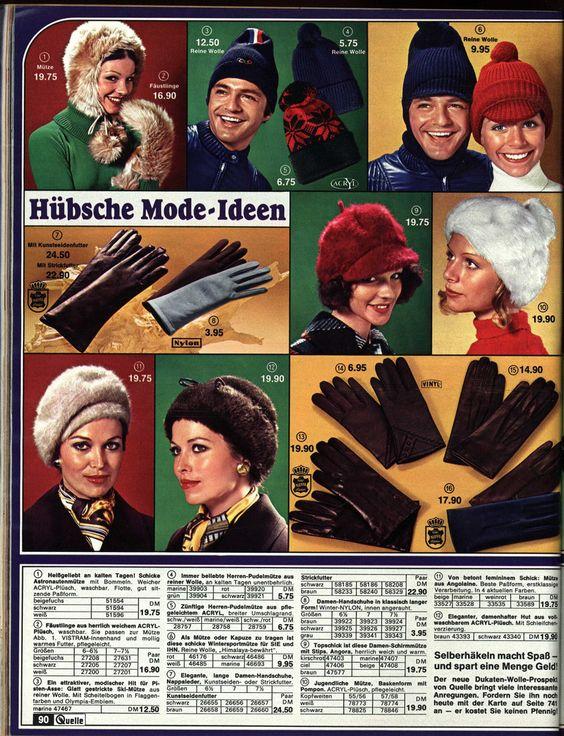 1972 Quelle 90 Mützen