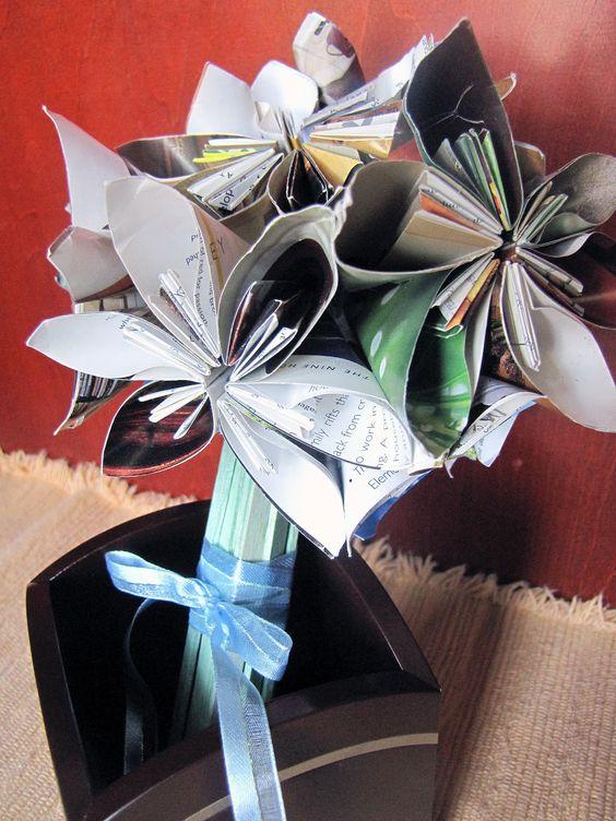 Feng Shui origami bouquet.  Beautiful!
