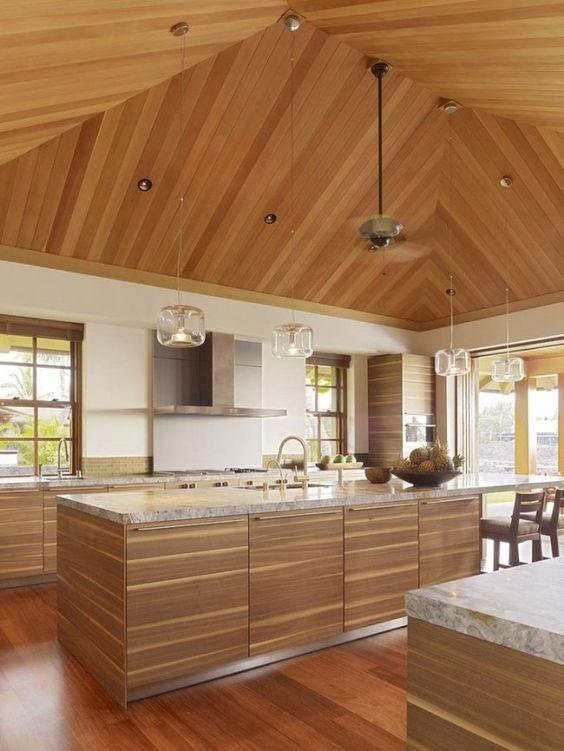wohnideen für die moderne küche holzdecke granit arbeitsplatte ... | {Granit arbeitsplatte 22}