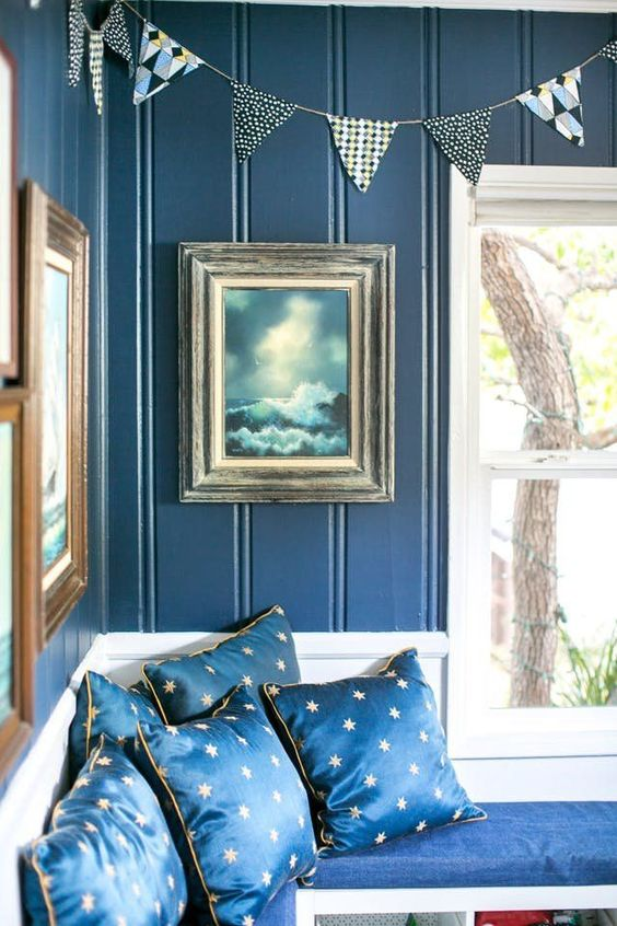 Amazing Blue White Interior Designing