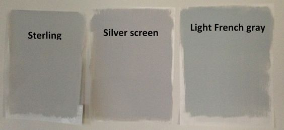 Behr light gray paints sterling silver screen and light for Light neutral grey paint