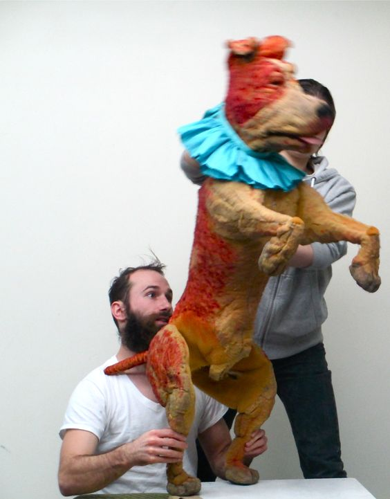 Canine puppetry by Lone Wolf Tribe, New York.  http://www.lonewolftribe.com/