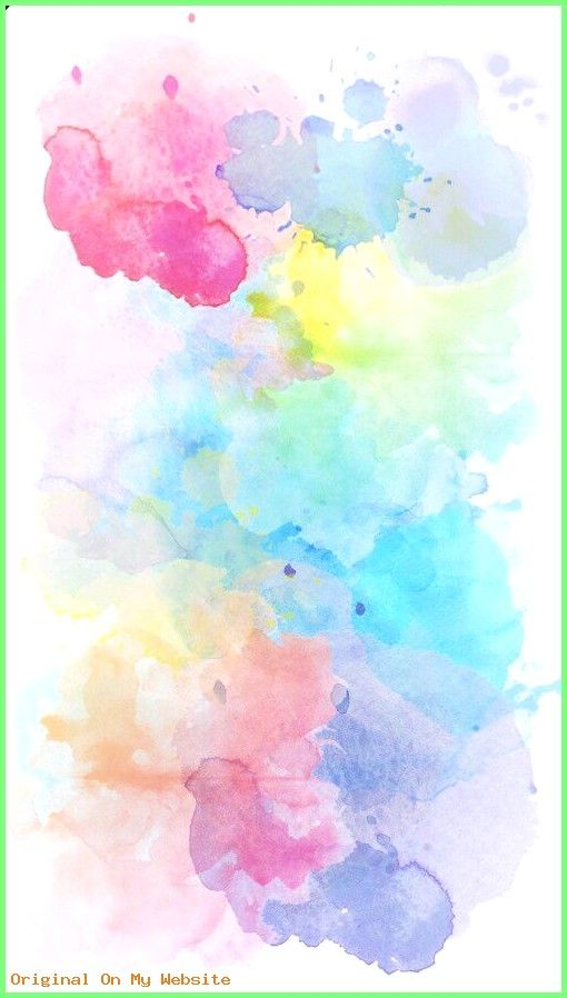Wallpaper Background Aesthetic Watercolor Wallpaper Cute
