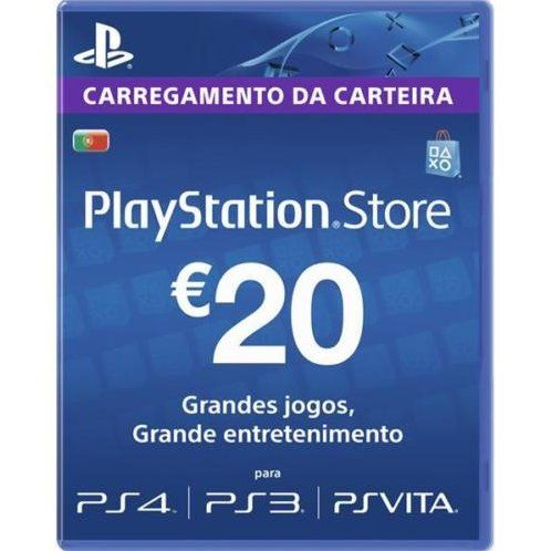 Psn Card 20 Eur Playstation Network Portugal Digital With