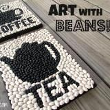 Linked to: suzyssitcom.com/2014/10/how-to-create-fun-wall-art-with-beans.html
