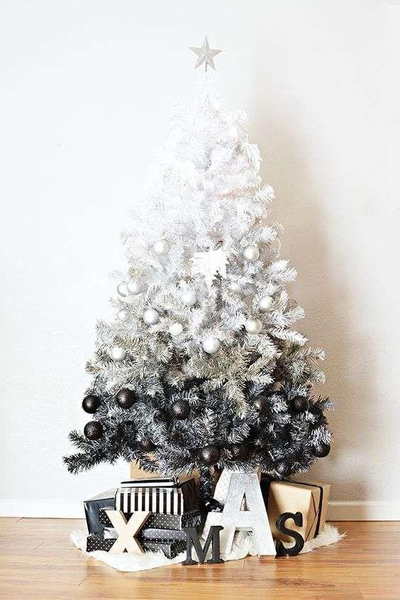 Albero Di Natale Nero.Albero Di Natale Bianco Natale Moderno Albero Di Natale Bianco Albero Di Natale Fai Da Te