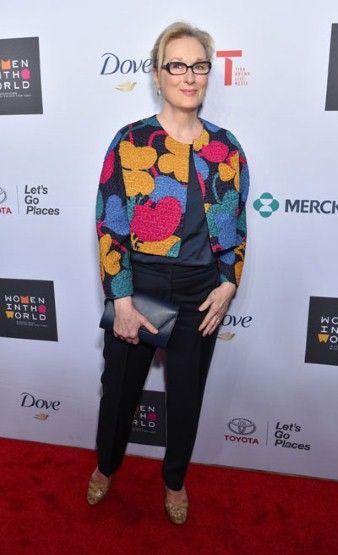 Meryl Streep - Just add a great jacket to black!