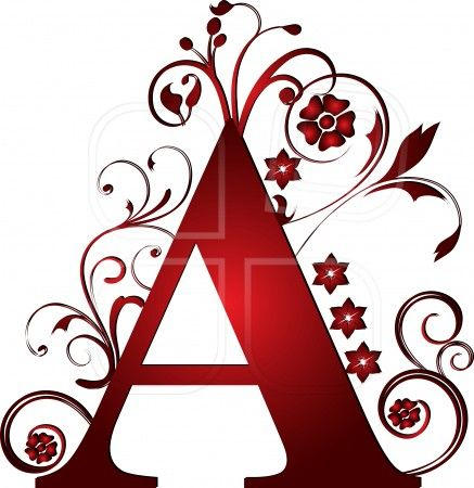 capital letter A red | Paper Quilling | Pinterest ...