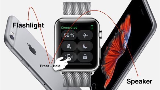 From the Watch Face swipe up. Press and Hold the phone symbol. Ta-da! If your phone is locked it not only will give you an acoustic but also a visual signal by letting the LED flashlight blink. So …