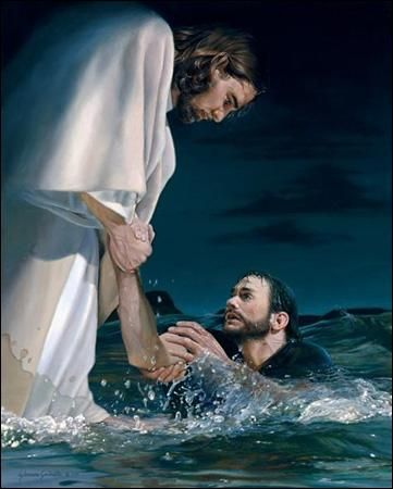 Image result for picture of walking with christ on water