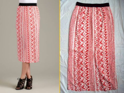 FREEBIRD FREE BIRD CHIC TERND!! ETHINC AZTEC GRAPHIC PRINT ANTHROPOLOGIE SKIRT M