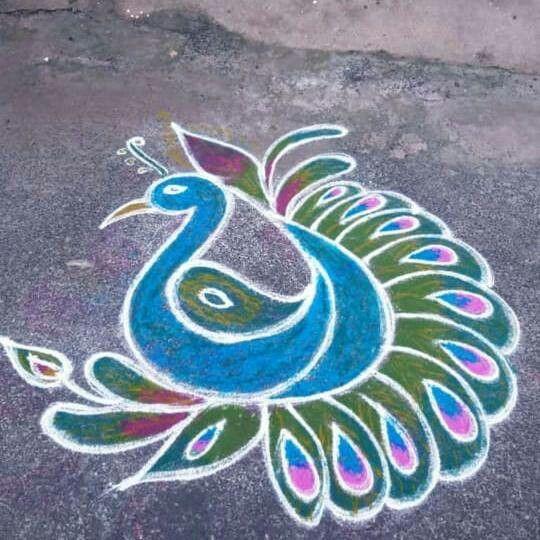 Rangoli In 2019 Rangoli Designs Colorful Rangoli Designs