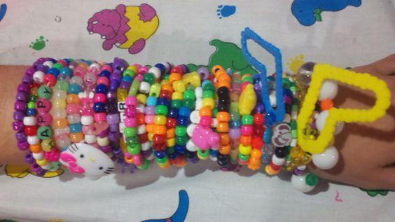 Kandi Bracelets  BIG Grab Bag by coleydinosaur on Etsy