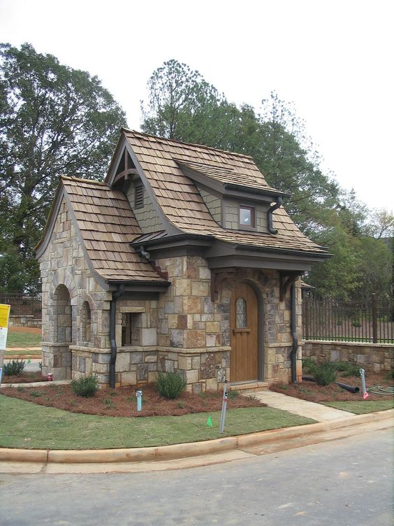 Exterior colors and materials curb appeal pinterest for Small stone cottage
