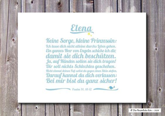 """Die Bibel mal """"in modern"""": Liebevoller Schutzengelswunsch (Psalm 91) als Geschenkidee zur Taufe, Geburt, ... - Druck/Wandbild/Print: Bibelvers (Psalm)"""