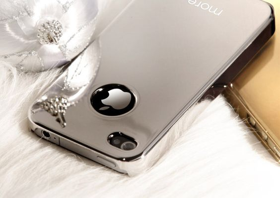 Mirror Skin for iPhone4, silver