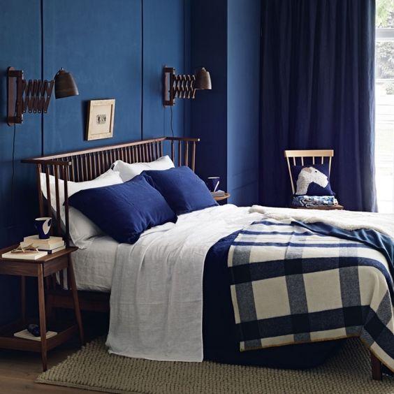 1001 Exemples Impressionnants De La Chambre Bleu Nuit Moderne
