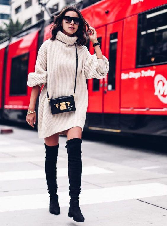 16 Ways to Wear Over-the-Knee Boots | Sydne Style | Bloglovin'