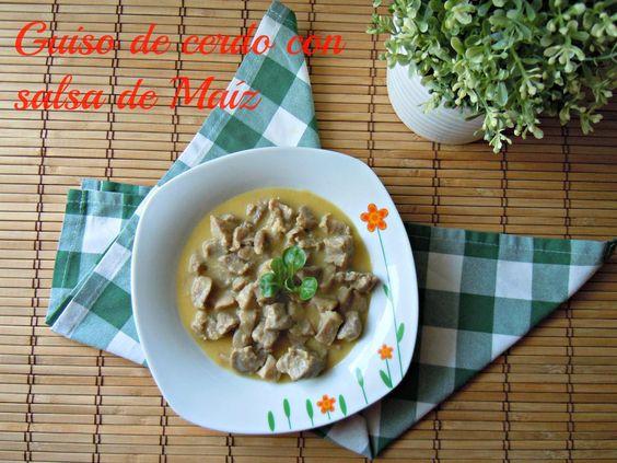 B.dias! Hoy #receta de #carne en el blog. Guiso de cerdo con salsa de maíz: …http://palvientretodoloqueentre.blogspot.com.es/2015/03/guiso-de-cerdo-con-salsa-de-maiz.html…
