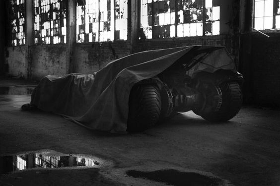 Director Zack Snyder teased the new Batmobile on Twitter today for the #Batman vs. #Superman movie!