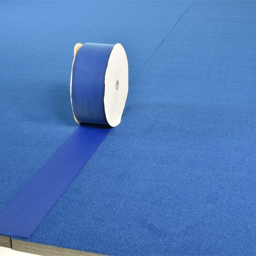 Cheer Mat Connect Strip 75ft Blue Hook Fastener Strip Cheer Mats Cheer Mats