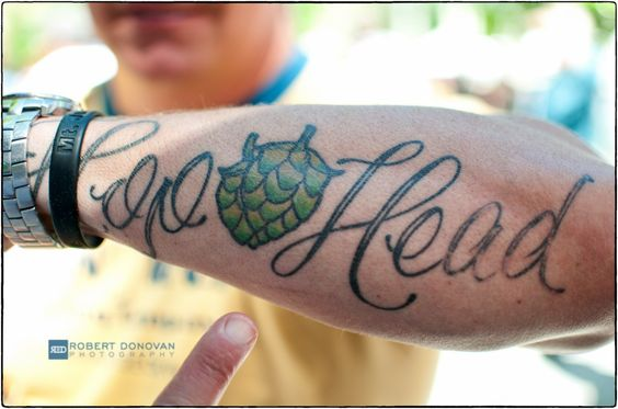 Best tattoo from asheville beer city festival hop head for Best tattoo artist in asheville nc