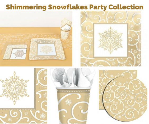 Shimmering Snowflakes Party Banner