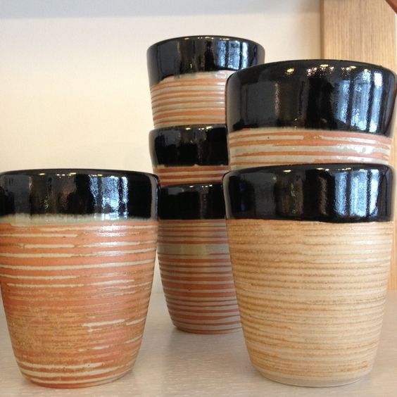 Ceramic Cup with Rings by Betsy Williams