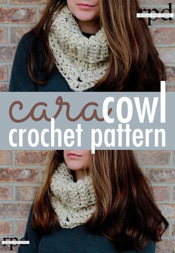 Easy Crochet Cowl Pattern - Textured Crochet Cowl | Bufandas de ...