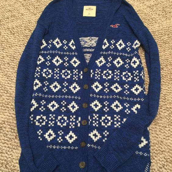 Hollister Cardigan size XS Hollister Cardigan size XS. Long. Heavy button up. Hollister Sweaters Cardigans