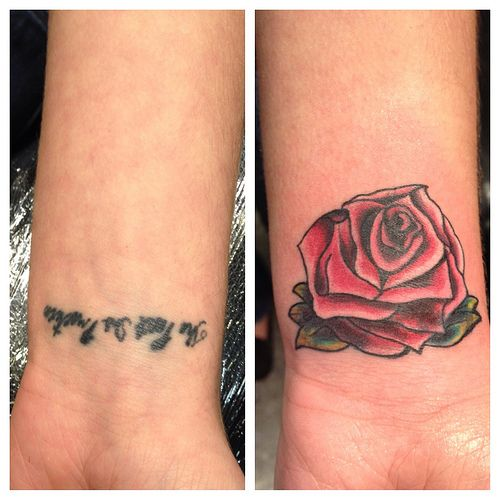 Small Rose Tattoos On Wrist , It Actually Does Cover Up