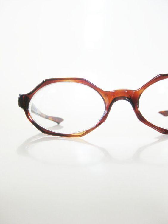 Vintage 1960s Hexagon Eyeglasses Octagon Glasses Womens Geek Chic ...